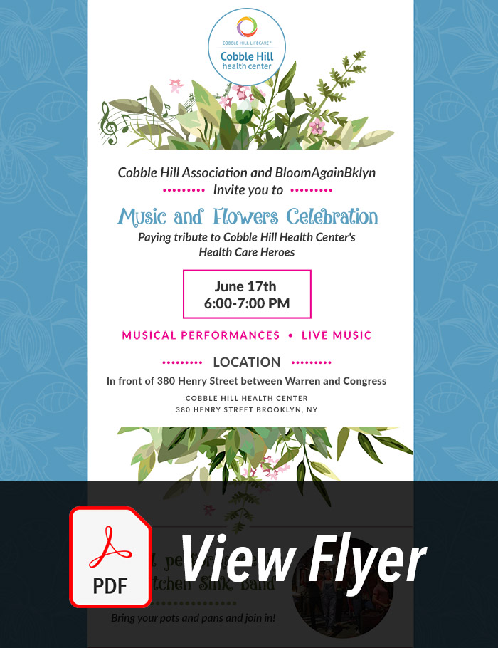 Music & Flowers Event Flyer